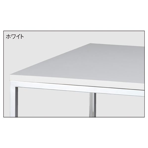 【まとめ買い10個セット品】 クロームショーテーブル ホワイト W108D45 【ECJ】