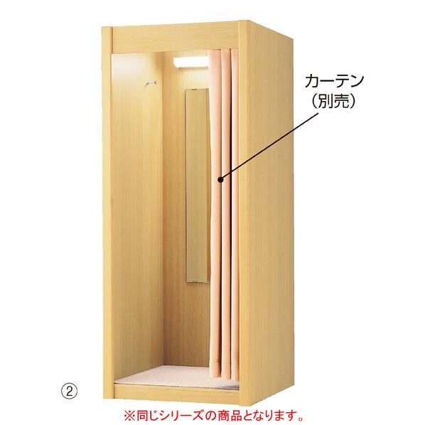 【まとめ買い10個セット品】 木製フィッティングルーム W87cm ホワイト LED仕様 【ECJ】