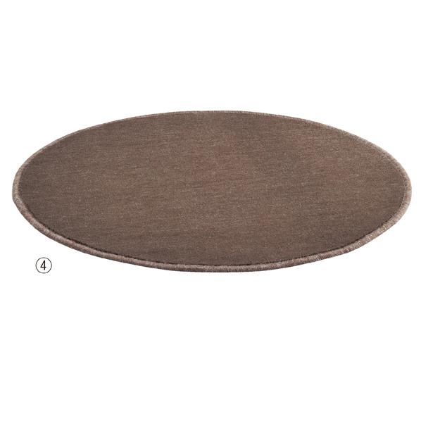 【まとめ買い10個セット品】 フィッティングルーム用カーペット74cm径ブラウン 【ECJ】