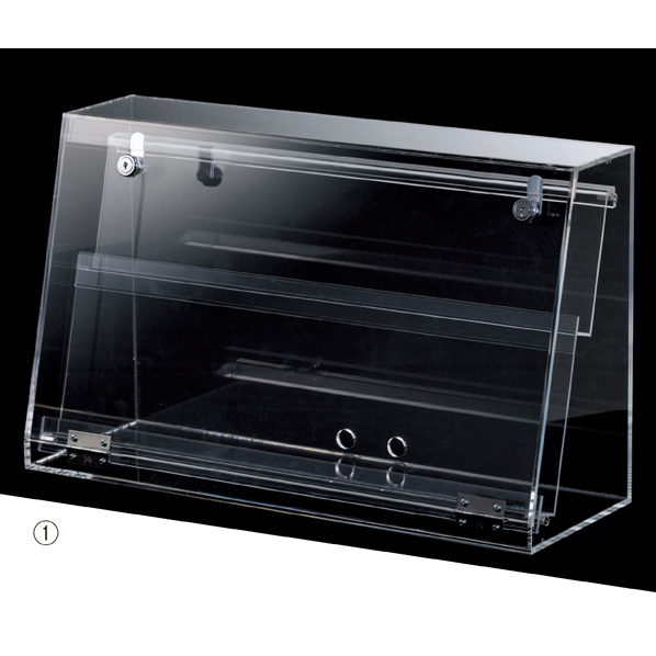 【まとめ買い10個セット品】 スマホ・タブレット卓上陳列ケース2段W58cm1台 【ECJ】