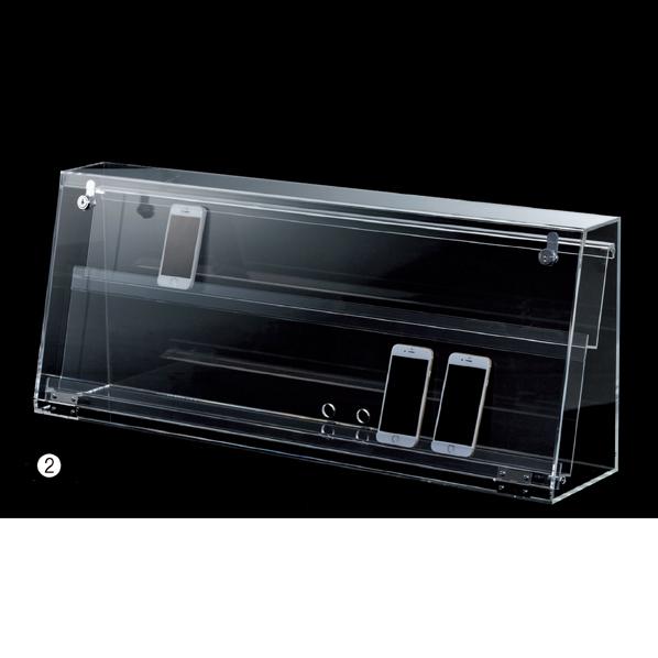 【まとめ買い10個セット品】 スマホ・タブレット卓上陳列ケース2段W88cm1台 【ECJ】