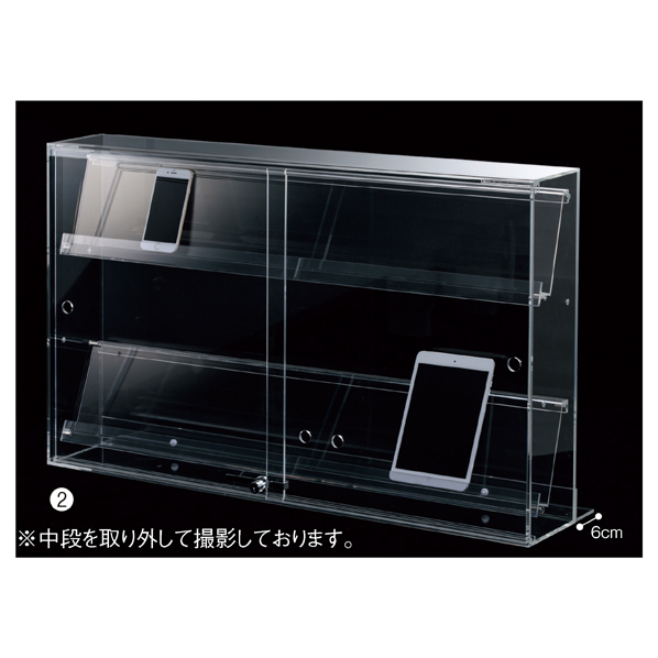 【まとめ買い10個セット品】 スマホ・タブレット卓上陳列ケース3列W88cm1台 【ECJ】
