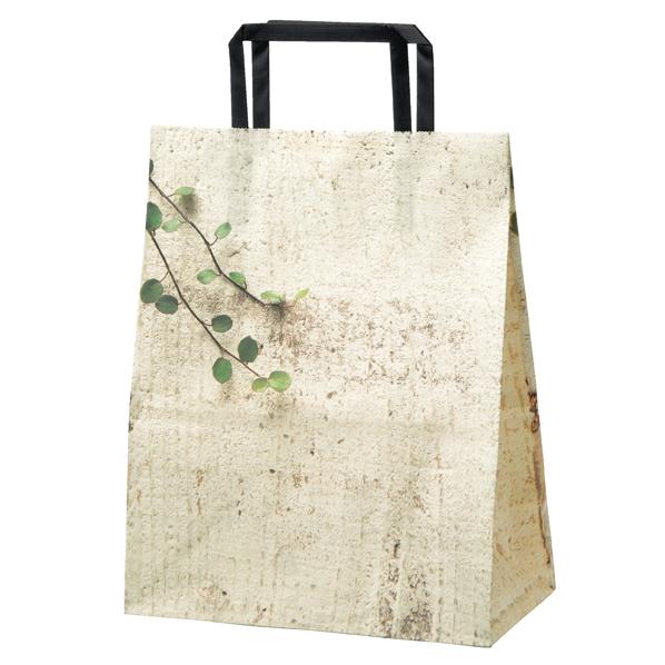 テクスチャーグリーン 紙袋22×12×28cm 300枚 【ECJ】