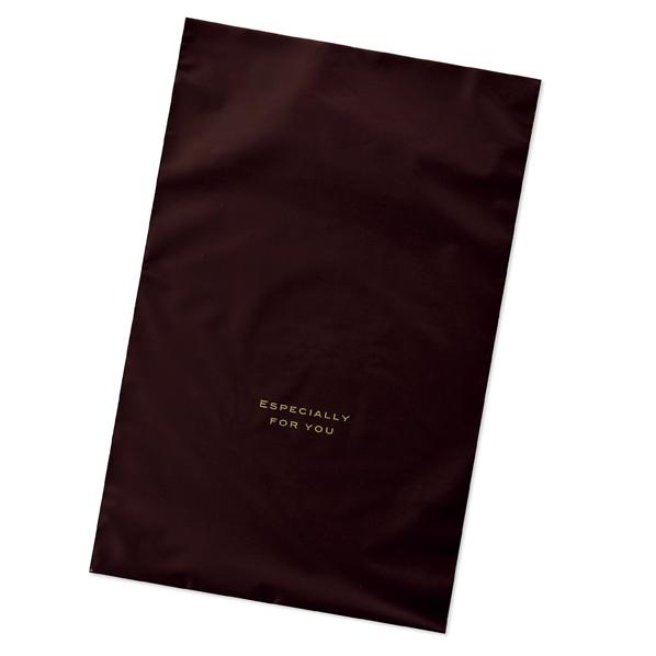 【まとめ買い10個セット品】 梨地ギフトバッグ ブラウン 8×30cm 100枚 【ECJ】