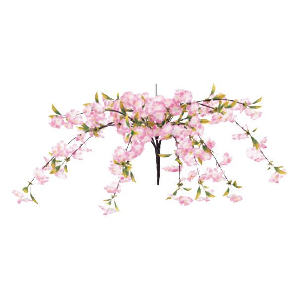【まとめ買い10個セット品】 シダレ桜センターハンガー1個 【桜 サクラ さくら 春 飾り イベント 装飾】 【ECJ】