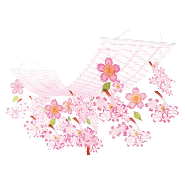 【まとめ買い10個セット品】 桜スイートプリーツハンガー1枚 【桜 サクラ さくら 春 飾り イベント 装飾】 【ECJ】