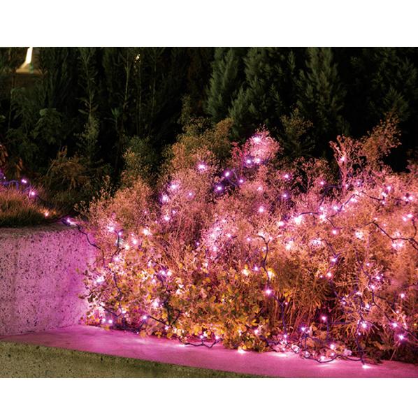 LEDストレートライト ピンク 200球1セット 【ECJ】