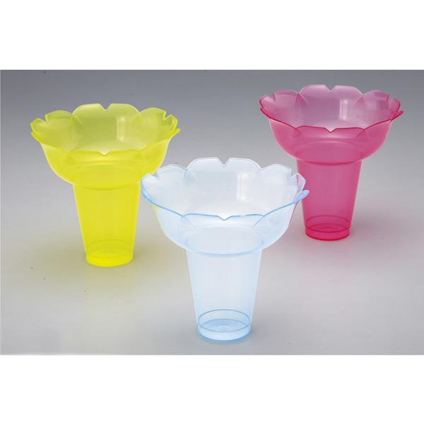 【まとめ買い10個セット品】 カキ氷カップ フラワー 小 3色セット 25個 【ECJ】