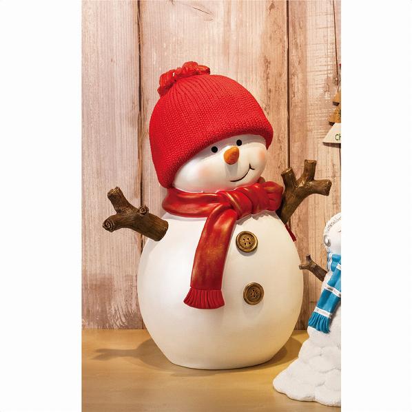 スノーマンモチーフ レッド【クリスマス クリスマス 店舗装飾 飾り ディスプレイ christmas xmas】【ECJ】