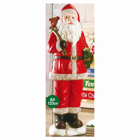 クリスマスビッグモチーフ サンタ1台【クリスマス 置物 店舗装飾 飾り ディスプレイ christmas xmas】【ECJ】