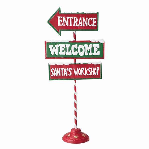 クリスマス ポストスタンド フィンガーポスト1台【クリスマス 置物 店舗装飾 飾り ディスプレイ christmas xmas】【ECJ】