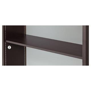 【まとめ買い10個セット品】 【業務用】木棚セット W90cmタイプ ダークブラウン 1セット