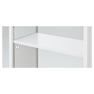 【まとめ買い10個セット品】 【業務用】木棚セット W120cmタイプ ホワイト 1セット