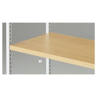 【まとめ買い10個セット品】 【業務用】木棚セット W90cmタイプ エクリュ 1セット
