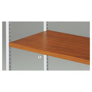 【まとめ買い10個セット品】 【業務用】木棚セット W120cmタイプ 天然木アルテンブラウン 1セット