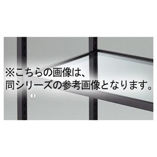 【まとめ買い10個セット品】 【業務用】ガラス棚セット W120cmタイプ 枠無し 5mm厚 1セット