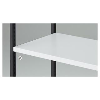 【まとめ買い10個セット品】 【業務用】木棚セット W90cmタイプ ホワイト 1セット