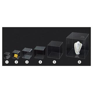 【まとめ買い10個セット品】 【業務用】アクリル5面ボックス 透明 55cm角 1個