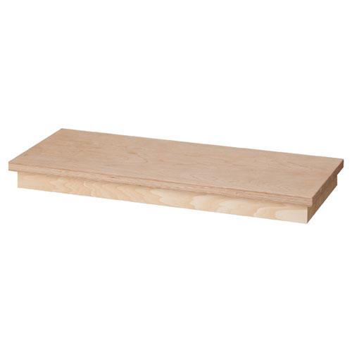 【業務用】台輪同色ステージ W90cm用 シナ×シナ単板【店舗什器 パネル 壁面 店舗備品 仕切 棚】【ECJ】