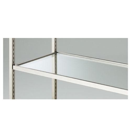 【業務用】ガラス棚セット W90cmタイプ ステンレス枠【店舗什器 パネル ディスプレー 棚 店舗備品】【ECJ】