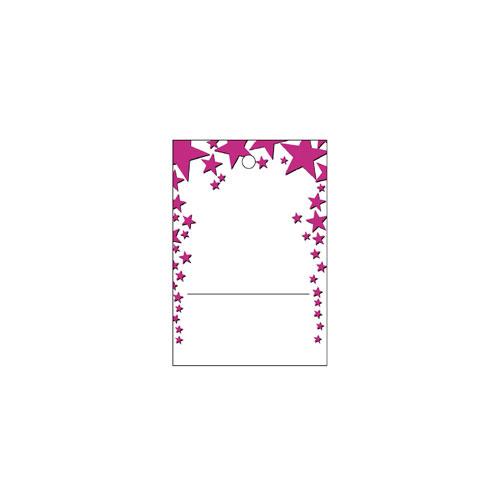 【まとめ買い10個セット品】 さげ札(糸無し) スター ピンク 500枚【販促用品 ポスター POP タグ 店舗備品】【ECJ】