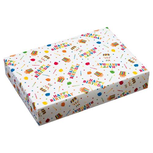 【まとめ買い10個セット品】 ハッピーバースデイポップ 包装紙 全判 250枚【店舗什器 小物 ディスプレー ギフト ラッピング 包装紙 袋 消耗品 店舗備品】【ECJ】