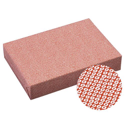 【まとめ買い10個セット品】 鹿の子 包装紙 赤 100枚【店舗備品 包装紙 ラッピング 袋 ディスプレー店舗】【ECJ】