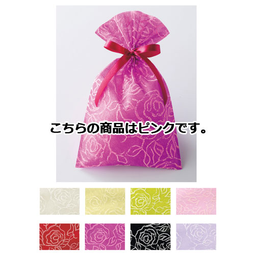 【まとめ買い10個セット品】 フレンチローズ ギフトバッグ ピンク 20枚【店舗備品 包装紙 ラッピング 袋 ディスプレー店舗】【ECJ】