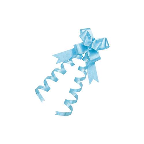 【まとめ買い10個セット品】 エレガンスボウ 13mm幅 ブルー 100個【店舗什器 小物 ディスプレー ギフト ラッピング 包装紙 袋 消耗品 店舗備品】【ECJ】