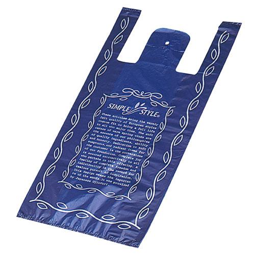 シンプルスタイル ブルー 30×55(40)×横マチ15 2000枚【店舗什器 小物 ディスプレー ギフト ラッピング 包装紙 袋 消耗品 店舗備品】【ECJ】