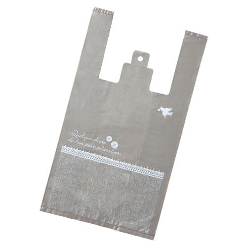 レジ袋 ボタンレース 30×55(39)×横マチ15 2000枚【ECJ】