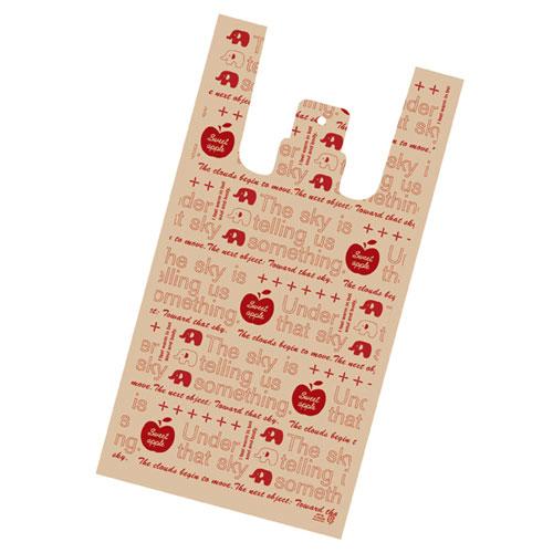 【まとめ買い10個セット品】 レジ袋 アップル 24×45(31)×横マチ14 4000枚【店舗什器 小物 ディスプレー ギフト ラッピング 包装紙 袋 消耗品 店舗備品】【ECJ】