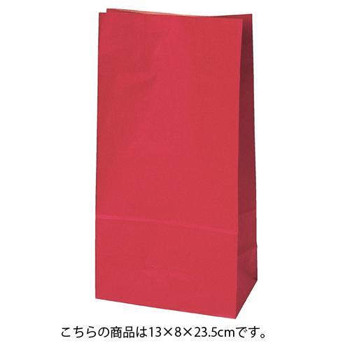 【まとめ買い10個セット品】 カラー無地 レッド 13×8×23.5 2000枚【店舗備品 包装紙 ラッピング 袋 ディスプレー店舗】【ECJ】