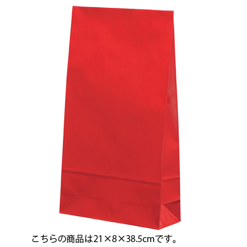 ギフトファンシーバッグ 赤 21×8×38.5 500枚【店舗備品 包装紙 ラッピング 袋 ディスプレー店舗】【ECJ】
