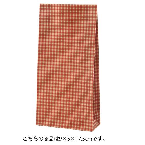 ギンガムチェック レッド 9×5×17.5 2000枚【店舗備品 包装紙 ラッピング 袋 ディスプレー店舗】【ECJ】
