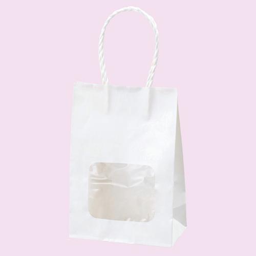 【まとめ買い10個セット品】 ウインドウミニバッグ 白 100枚【店舗備品 包装紙 ラッピング 袋 ディスプレー店舗】【ECJ】