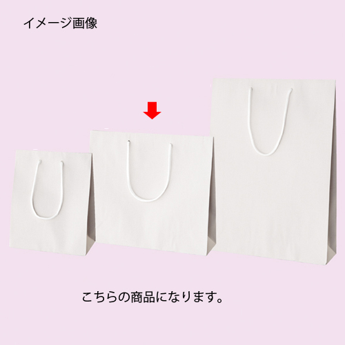 カラー手提げ紙袋 ホワイト 33×10×29 100枚【店舗備品 包装紙 ラッピング 袋 ディスプレー店舗】【ECJ】