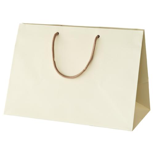 【まとめ買い10個セット品】 ブライトバッグ マチ広 アイボリー 42×23×30 10枚【店舗備品 包装紙 ラッピング 袋 ディスプレー店舗】【ECJ】