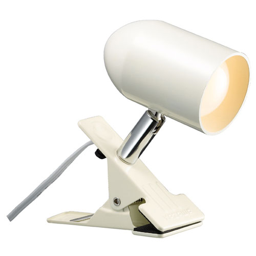 【まとめ買い10個セット品】 LEDクリップライト 電球色 アイボリー【照明 インテリア 店舗内装 店舗改装 おしゃれな センス】【ECJ】