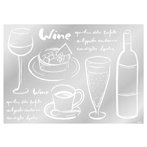 【まとめ買い10個セット品】 ウインドウシール ワイン ワイン【店舗什器 小物 ディスプレー POP ポスター 消耗品 店舗備品】【ECJ】