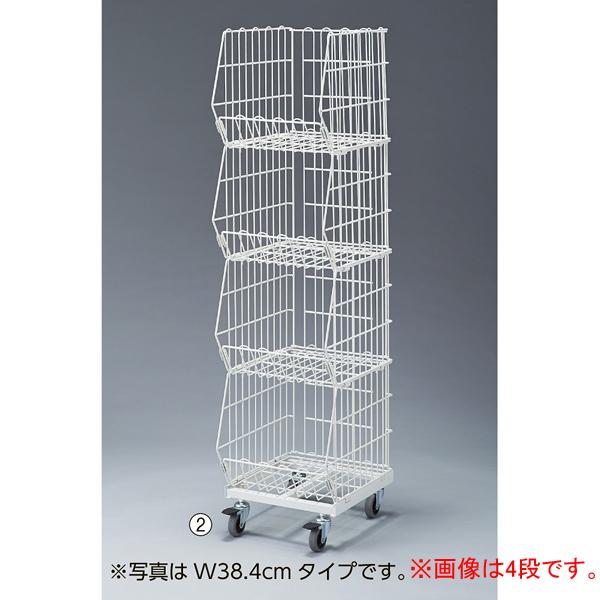 高機能型ジャンブルバスケット 白3段W54.4 D46.3×H121 キャスター7.5cm 【ECJ】