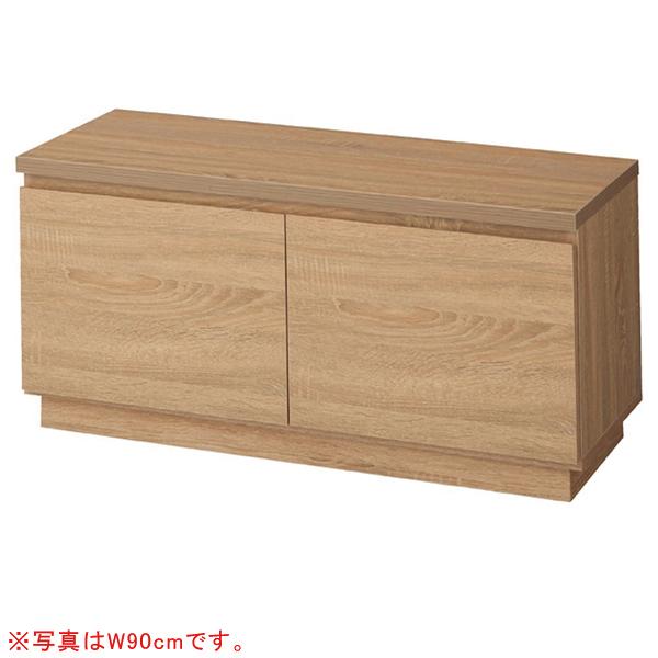 木製収納ボックスロー/台輪タイプラスティックW120c mH44cm 【ECJ】