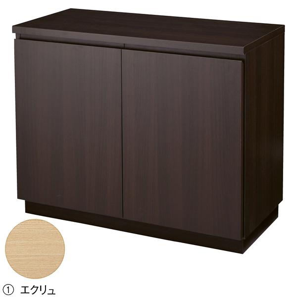 木製収納BOX ハイ/台輪タイプ エクリュ W90cm 【ECJ】