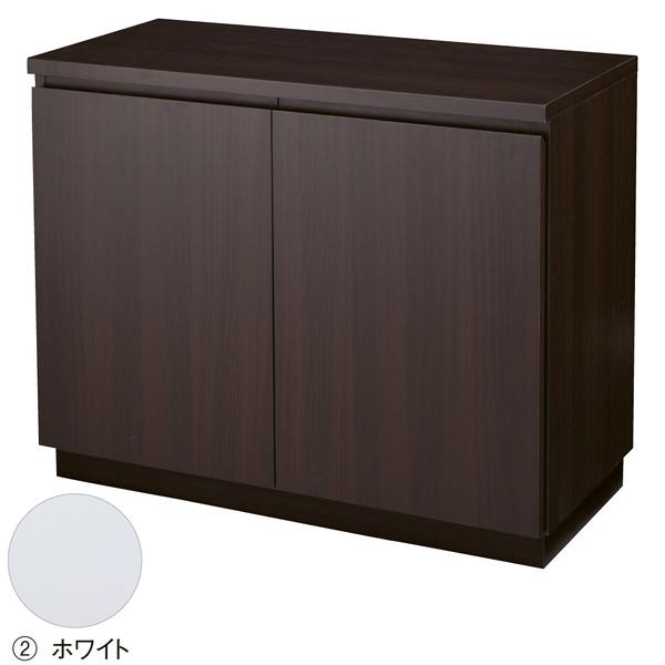 木製収納BOX ハイ/台輪タイプ ホワイト W90cm 【ECJ】