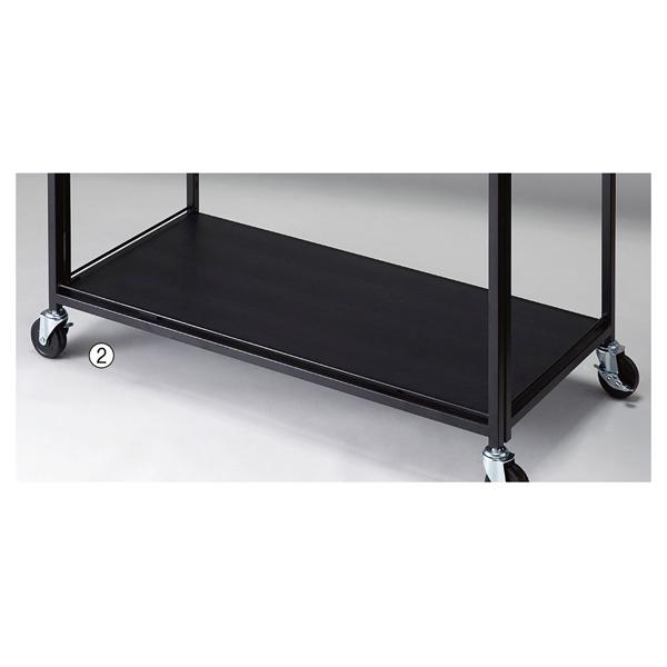 防水樹脂棚 W900×D400mm 黒 再生樹脂 【ECJ】
