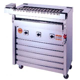 【業務用】ヒゴグリラー クルクル回転 自動串焼き機 3K-009X【 メーカー直送/後払い決済不可 】