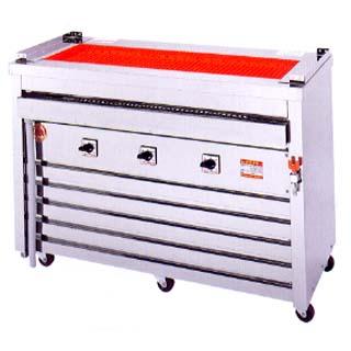【業務用】ヒゴグリラー 電気グリラー 万能タイプ床置型 3P-221W [業務用串焼き機] 【 メーカー直送/後払い決済不可 】 【 送料無料 】