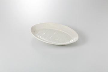 【まとめ買い10個セット品】和食器 粉引 楕円リム盛皿 36K157-11 まごころ第36集 【キャンセル/返品不可】【ECJ】