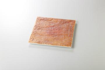 和食器 陸 石肌正角皿(大) 35K128-16 まごころ第35集
