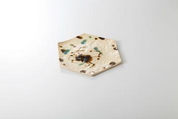 【まとめ買い10個セット品】和食器 かに絵志野 六角皿 36K134-12 まごころ第36集 【キャンセル/返品不可】【ECJ】